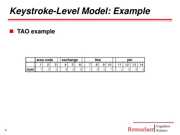 Keystroke-Level Model: Example