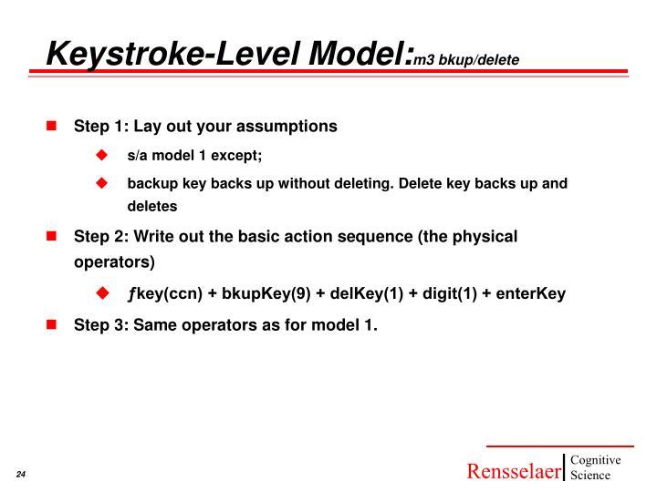 Keystroke-Level Model: