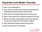 keystroke level model overview