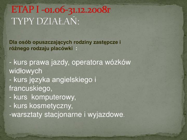 ETAP I -01.06-31.12.2008r