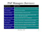 paf managers services