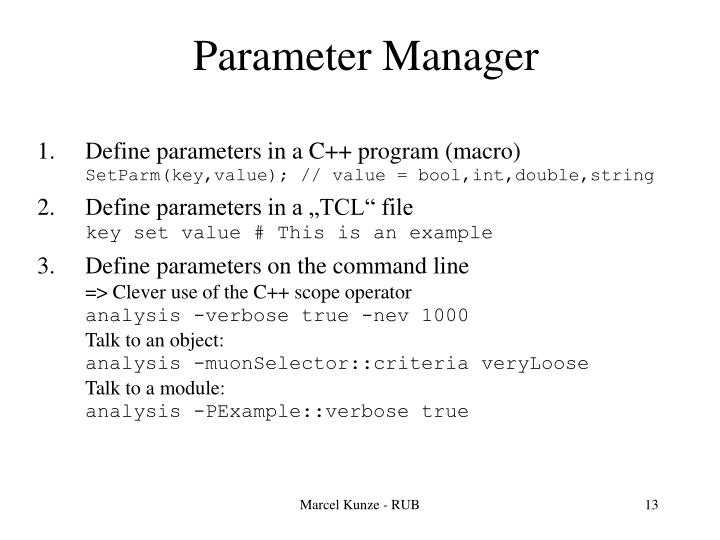 Parameter Manager