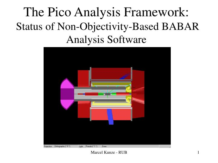 The pico analysis framework status of non objectivity based babar analysis software