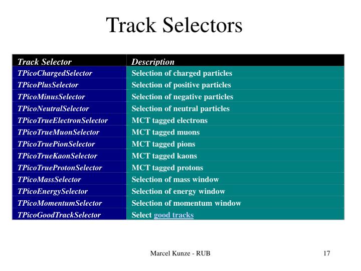 Track Selector