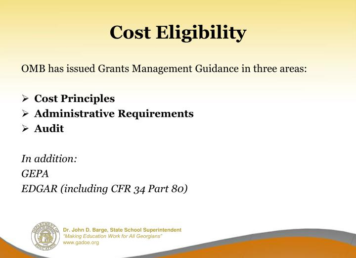 Cost Eligibility