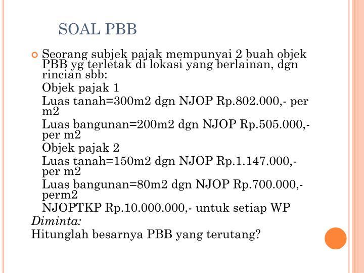 SOAL PBB