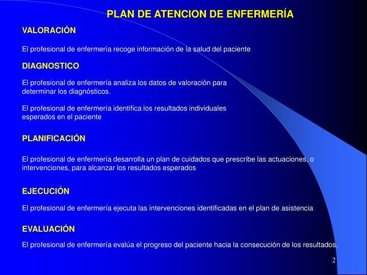 PLAN DE ATENCION DE ENFERMERÍA