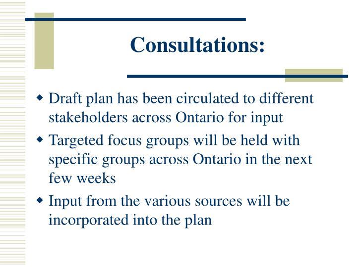 Consultations: