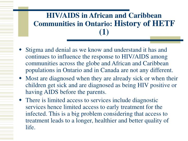 HIV/AIDS in African and Caribbean Communities in Ontario: