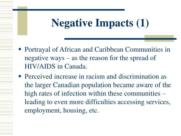 Negative Impacts (1)