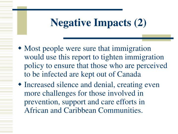 Negative Impacts (2)