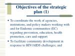 objectives of the strategic plan 1