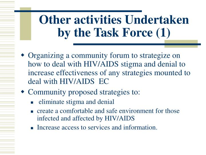 Other activities Undertaken by the Task Force (1)