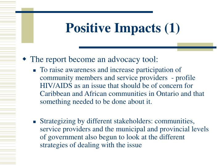 Positive Impacts (1)