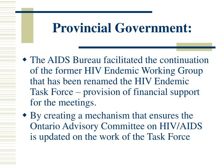 Provincial Government: