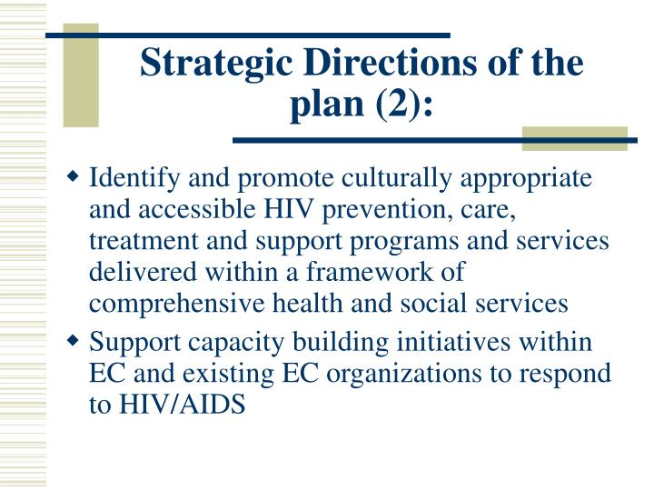 Strategic Directions of the plan (2):