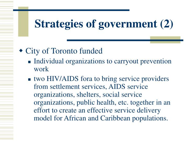 Strategies of government (2)