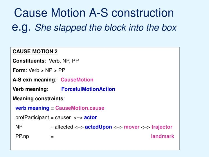 Cause Motion A-S construction