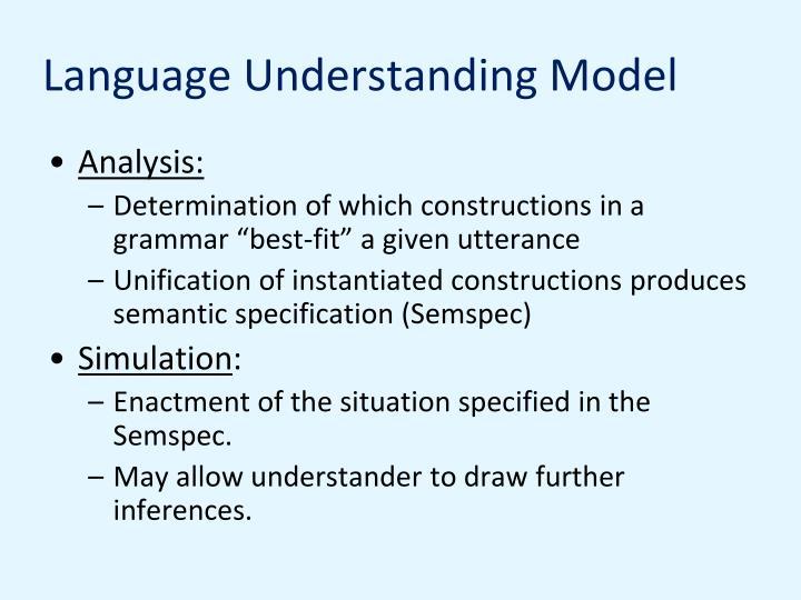 Language Understanding Model