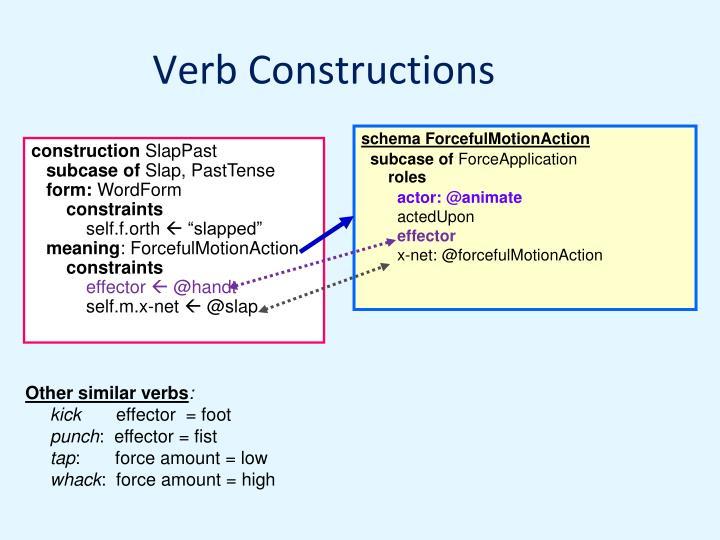 Verb Constructions