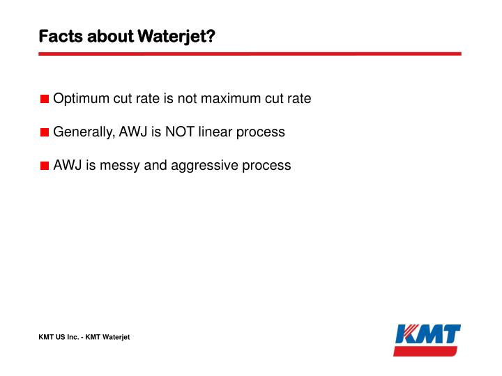 Facts about Waterjet?