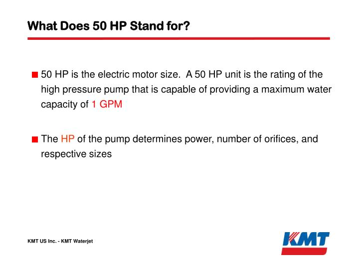 What Does 50 HP Stand for?