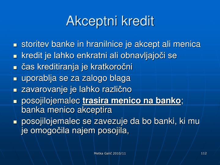 Akceptni kredit