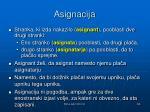 asignacija