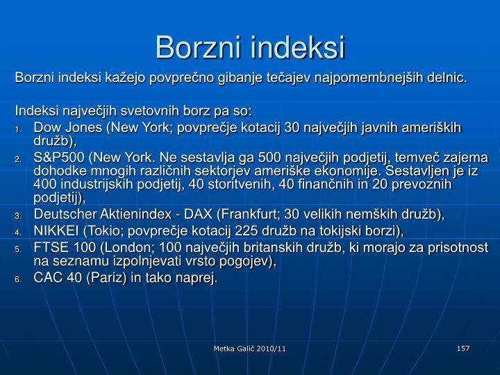 Borzni indeksi
