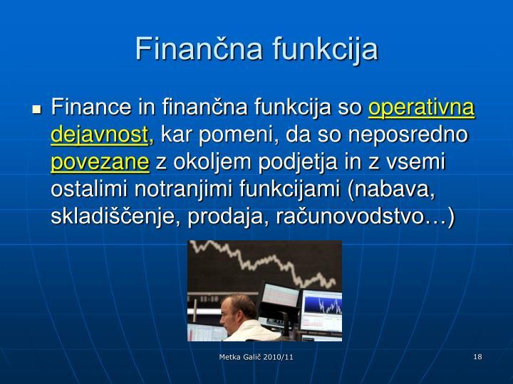 Finančna funkcija