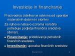 investicije in financiranje1