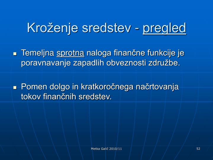 Kroženje sredstev -