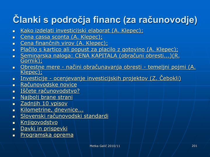 Članki s področja financ (za računovodje)