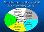 organizacijska oblika oddelki finan ne slu be primer