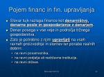 pojem financ in fin upravljanja