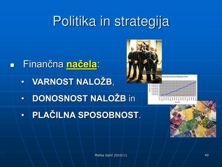 Politika in strategija