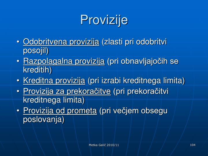 Provizije