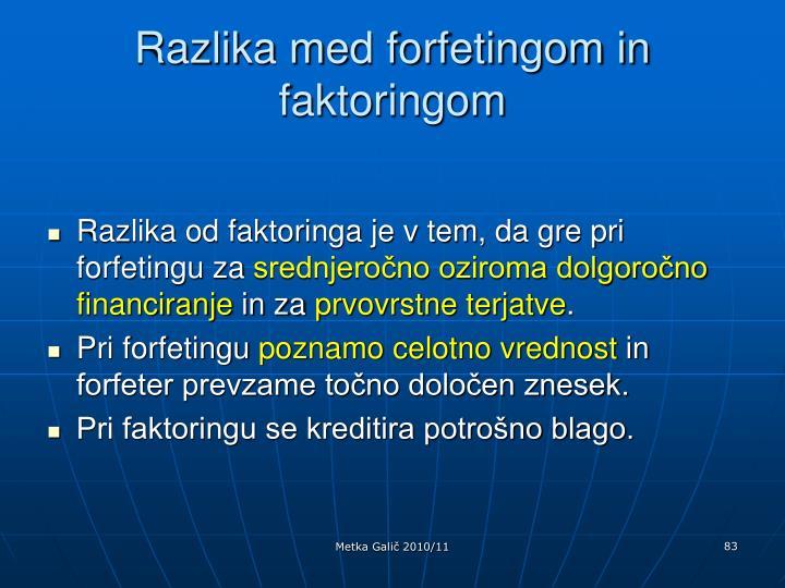 Razlika med forfetingom in faktoringom
