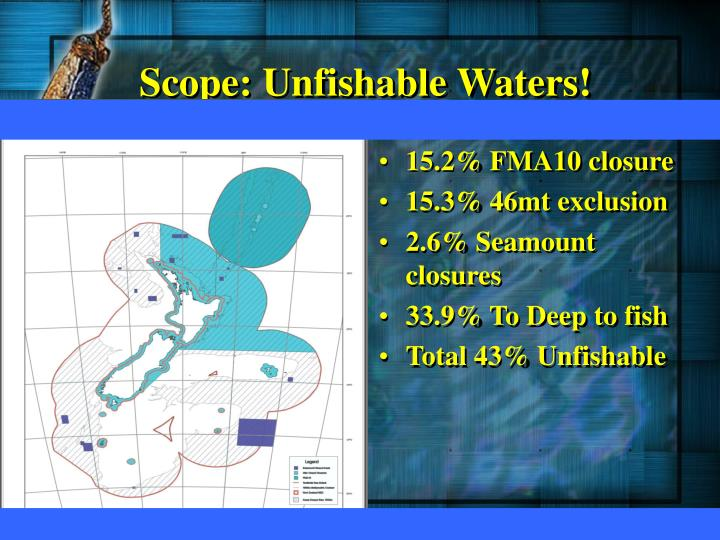 Scope: Unfishable Waters!