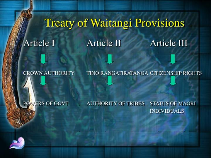 Treaty of Waitangi Provisions