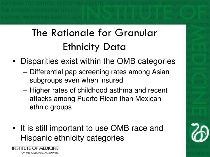 The Rationale for Granular Ethnicity Data