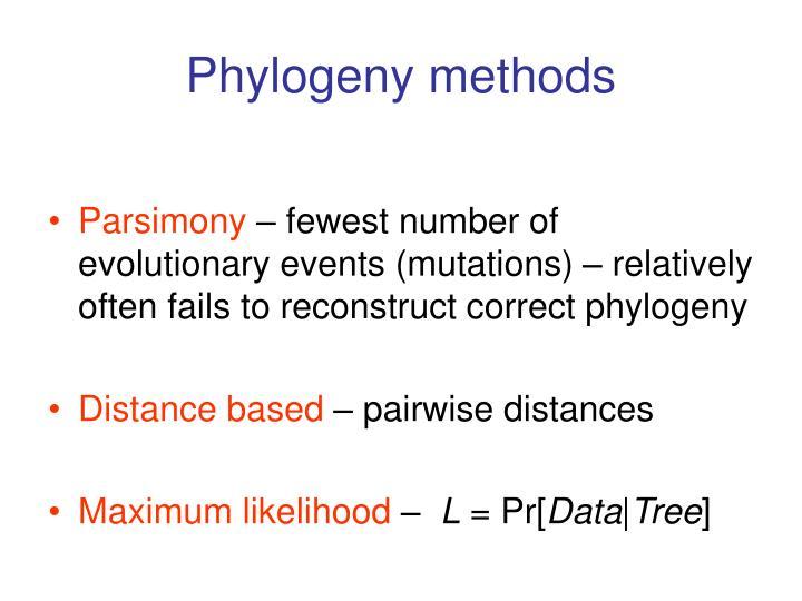 Phylogeny methods