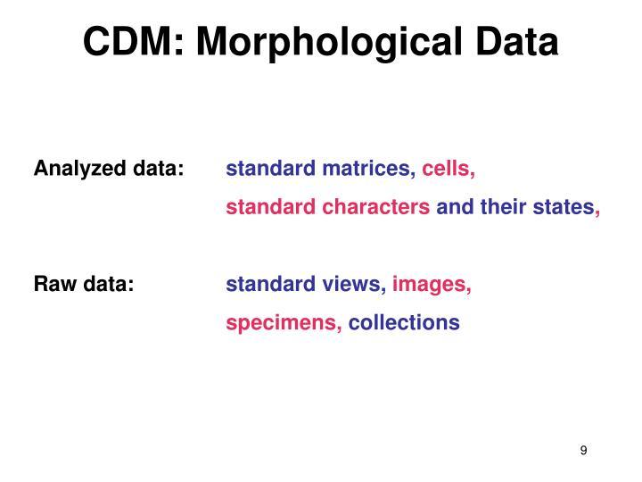 CDM: Morphological Data