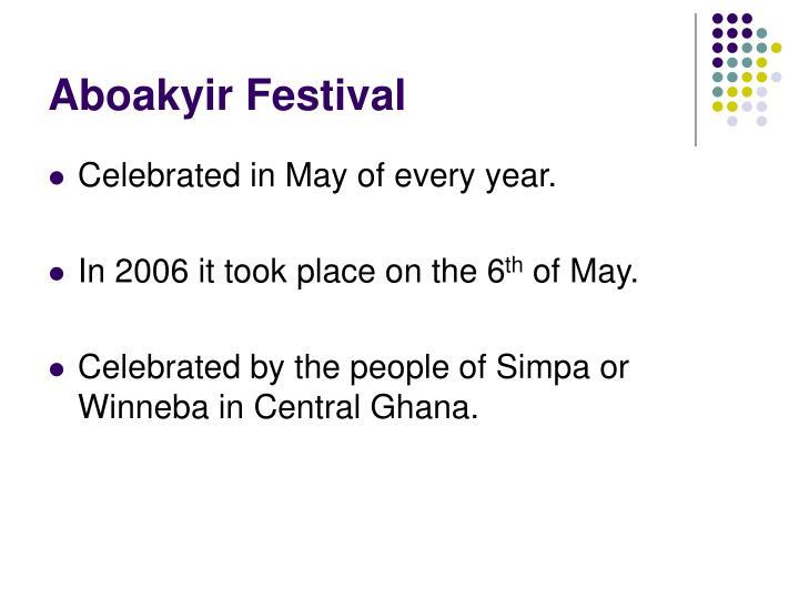 Aboakyir Festival