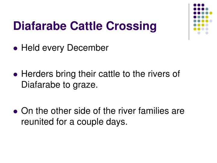 Diafarabe Cattle Crossing