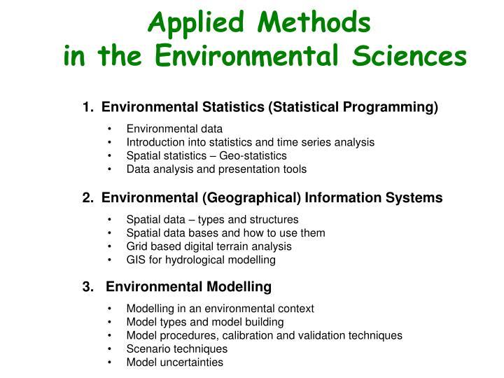 Applied Methods
