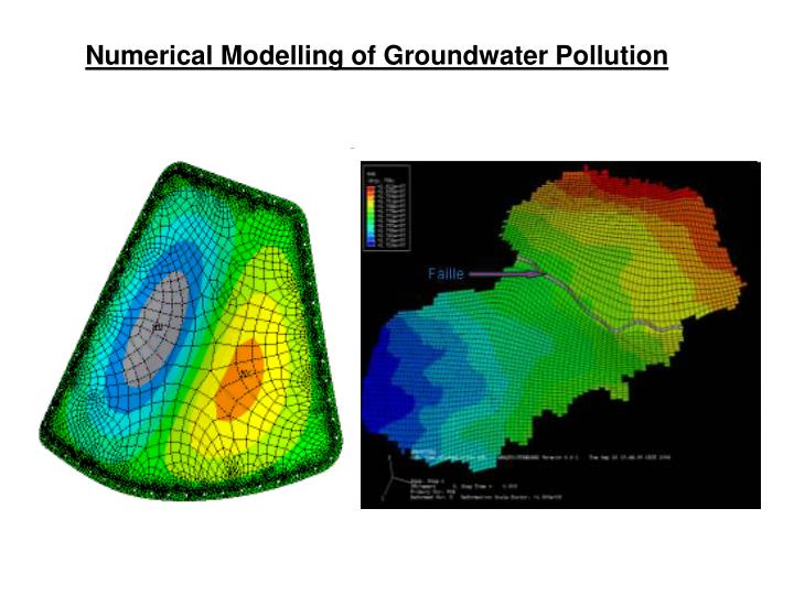 Numerical Modelling of Groundwater Pollution