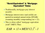 bond equivalent mortgage equivalent rates1