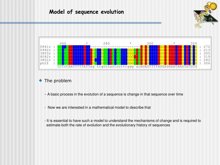 Model of sequence evolution