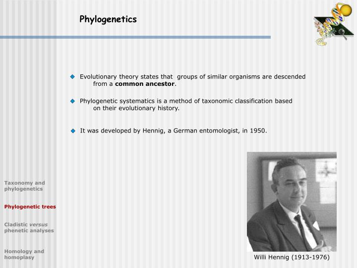 Phylogenetics